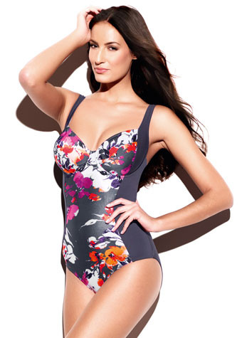 Panache Underwired Swimsuit Tallulah SW0740 Charcoal