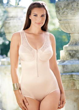 Front Fastening Corselet with Zip Mylena 3419