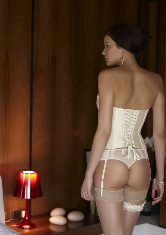 Panache 4547 Lace Hestia Basque in Ivory from the Masquerade range