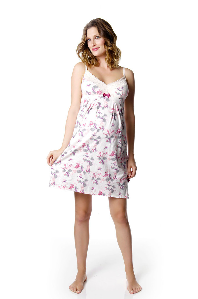 Hotmilk Nursing Nightie Intrigue bird print