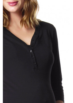 Hotmilk Harmony PJ Top Black