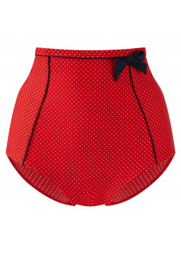 Panache Britt High Waist Pants SW0826 - red polka dot