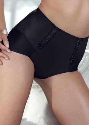 Anita Rosa Faia Lace Rose Panty Girdle Black 1712