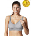 Bravado Body Silk Seamless Yoga Nursing Bra - marl grey