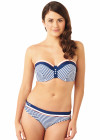 Cleo Lucille Bandeau Bikini top CW0063 - SALE - navy/coral