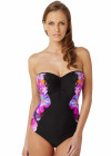 Panache Savannah Underwired Bandeau Swimsuit SW0780 - floral